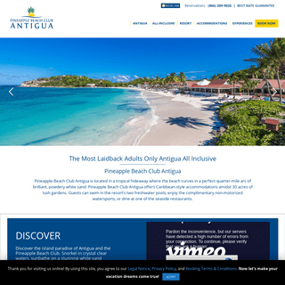 Pineapple Beach Club Antigua All Inclusive Resorts Adults Only
