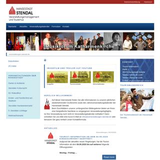 Veranstaltungsmanagement und Tourismus der Hansestadt Stendal- veranstaltungen-stendal.de
