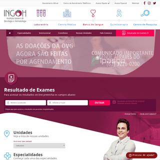 INGOH - Instituto Goiano de Oncologia e Hematologia - Site do Instituto Goiano de Oncologia e Hematologia.INGOH - Instituto Goia