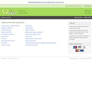 WebTicket - Hlavní stránka