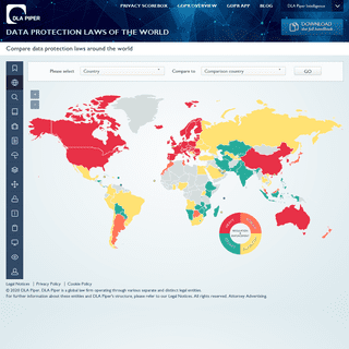 DLA Piper Global Data Protection Laws of the World - World Map