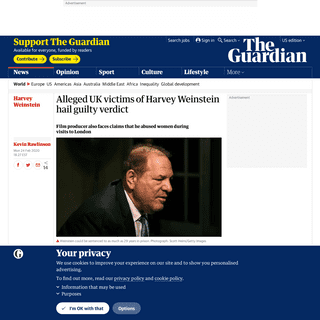 ArchiveBay.com - www.theguardian.com/world/2020/feb/24/alleged-victims-of-harvey-weinstein-in-uk-hailed-guilty-verdict - Alleged UK victims of Harvey Weinstein hail guilty verdict - World news - The Guardian