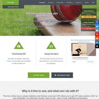 .- Cric API - The Ultimate Source for Cricket API -.