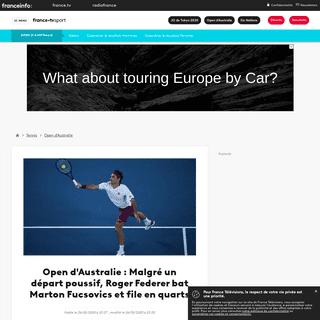 Open d'Australie - Malgré un départ poussif, Roger Federer bat Marton Fucsovics et file en quarts