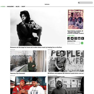 Wax Poetics - The Best Music Magazine on the Planet.