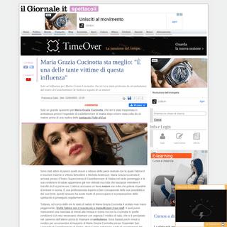 Maria Grazia Cucinotta sta meglio- -È una delle tante vittime di questa influenza- - IlGiornale.it