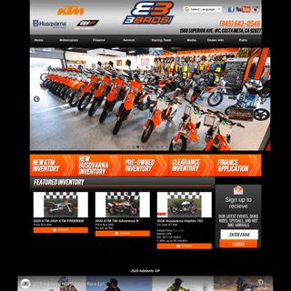 New & Used Motorcycles for Sale - KTM & Husqvarna Dealer - 3BrosKTM.com