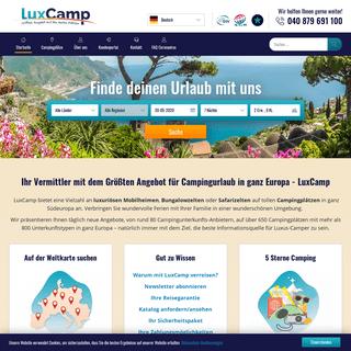 Campingurlaub in Europa. Buchen Sie einen Campingplatz bei LuxCamp