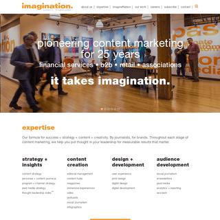 Imagination - Content Marketing Agency Chicago and Washington D.C.