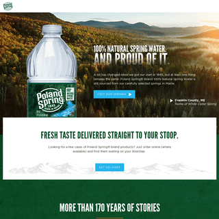 Poland Spring® Brand - 100- Natural Spring Water - Born in Maine