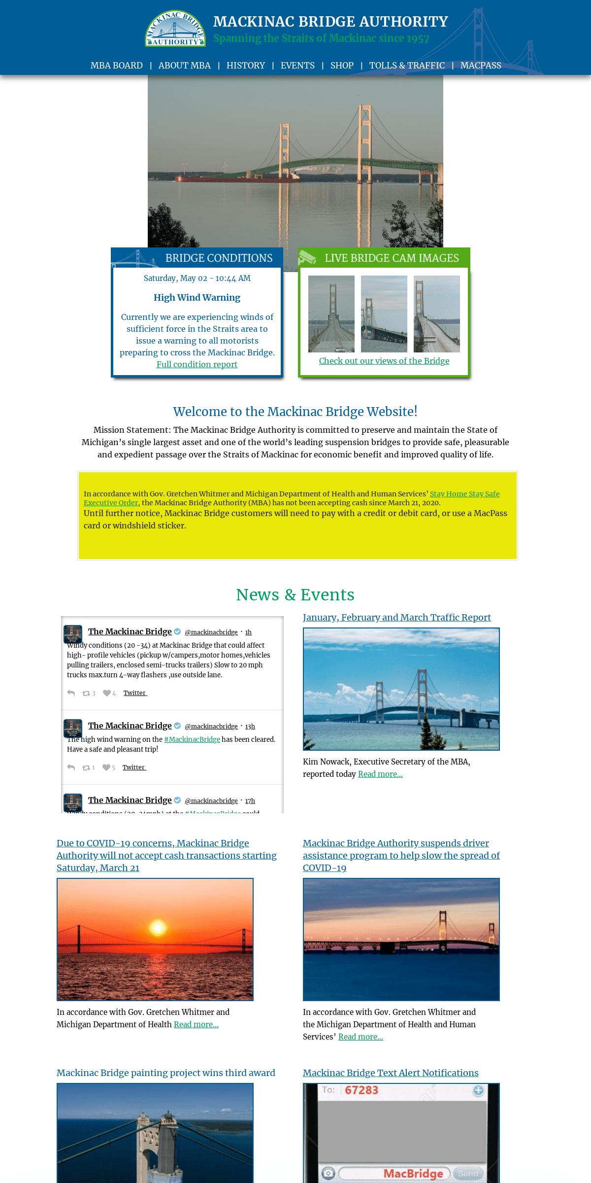 ArchiveBay.com - mackinacbridge.org - Mackinac Bridge Authority, St. Ignace Michigan