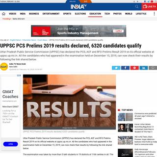 UPPSC PCS Prelims 2019 results declared, 6320 candidates qualify - Exam News – India TV
