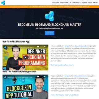 Become An In-Demand Blockchain Master - Dapp University