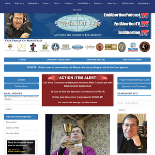Priests for Life - Official Site - Pro Life - Anti Abortion Facts and Pro-Life Arguments