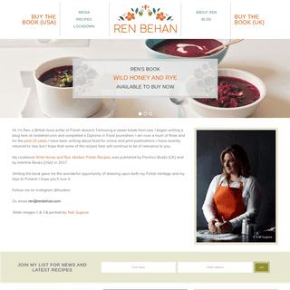 ArchiveBay.com - renbehan.com - Ren Behan - Author Wild Honey and Rye — Food Writer