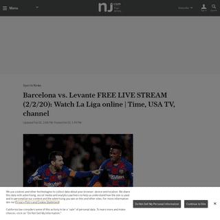Barcelona vs. Levante FREE LIVE STREAM (2-2-20)- Watch La Liga online - Time, USA TV, channel - nj.com
