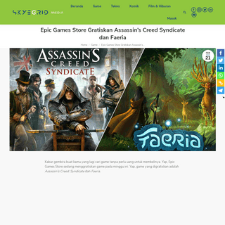 Epic Games Store Gratiskan Assassin's Creed Syndicate dan Faeria — Skyegrid Media