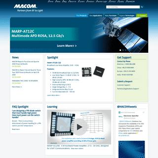 MACOM - Partners from RF to Light