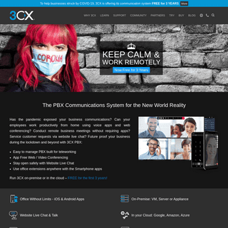 3CX Communications Solution. Remote Work made Easy