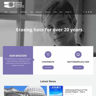 Home - Matthew Shepard Foundation