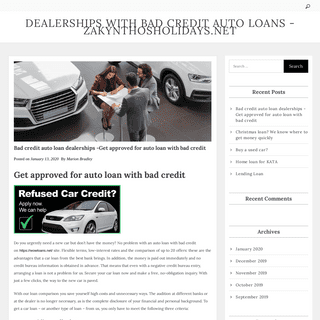 Bad credit auto loan dealerships -Get approved for auto loan with bad credit – Dealerships With Bad Credit Auto Loans -Zakynth