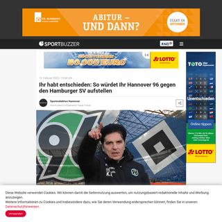 ArchiveBay.com - www.sportbuzzer.de/artikel/user-aufstellung-hannover-96-hamburger-sv/ - Ihr habt entschieden- So würdet Ihr Hannover 96 gegen den Hamburger SV aufstellen - Sportbuzzer.de