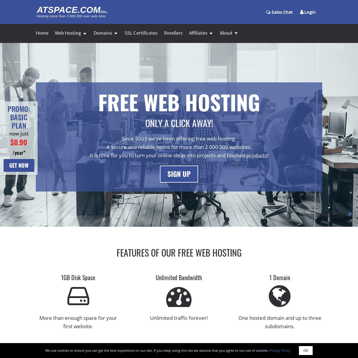 Free Web Hosting for Life, Free Domains, Easy Website Builder