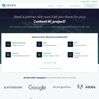 Credo - Hire the best pre-vetted SEO, PPC, and digital marketing firms