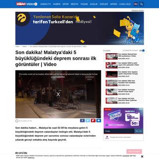 Son dakika! Malatya'daki 5 büyüklüğündeki deprem sonrası ilk görüntüler - Video videosunu izle - ...