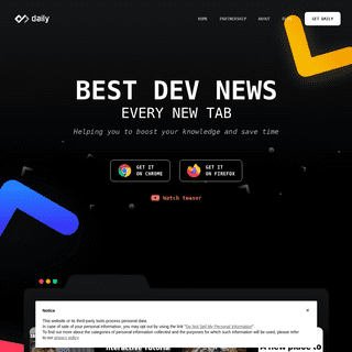 Daily - Source for Busy Developers
