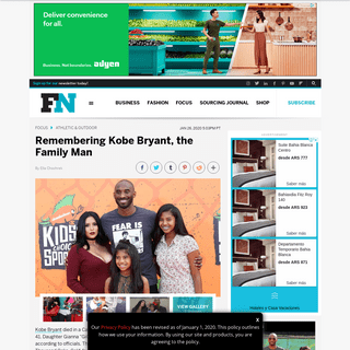 Kobe Bryant the Family Man- His Relationship With His Daughters – Footwear News