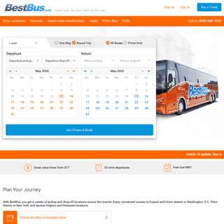 Best Bus from DC to NYC - BestBus - Luxury Bus Service