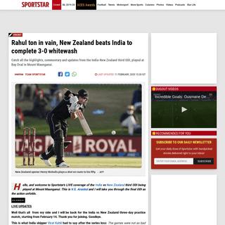 Rahul ton in vain, New Zealand beats India to complete 3-0 whitewash - Sportstar