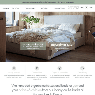 Organic Natural Luxury Mattresses and Beds - Handmade In The UK