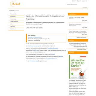 INKA – das Informationsnetz für Krebspatienten und Angehörige
