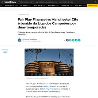 ArchiveBay.com - www.infomoney.com.br/negocios/fair-play-financeiro-manchester-city-e-banido-da-liga-dos-campeoes-por-duas-temporadas/ - Fair Play Financeiro- Manchester City é banido da Liga dos Campeões por duas temporadas