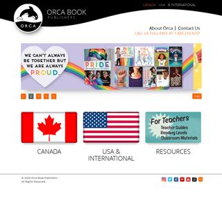 Orca Book Publisher - Canada, USA, International