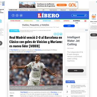 Real Madrid vs Barcelona 2-0 RESUMEN Ver partido ONLINE YouTube Videos goles Mariano Diaz Vinicius Junior Resultado y marcado fi