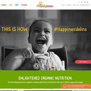 ArchiveBay.com - happyfamilybrands.com - Happy Family Organics- Food for Babies, Tots and Kids