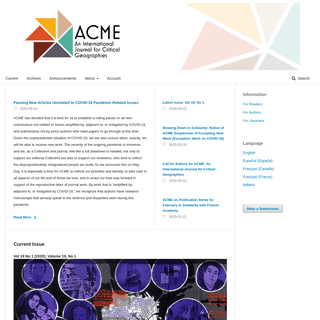 ArchiveBay.com - acme-journal.org - ACME- An International Journal for Critical Geographies