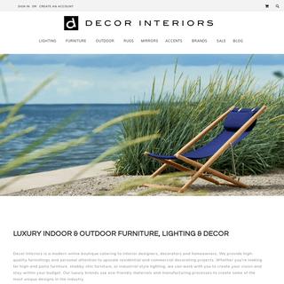 ArchiveBay.com - decorinteriorsus.com - Decor Interiors- Luxury Modern Indoor & Outdoor Furniture & Lights