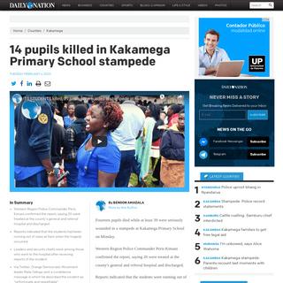 14 pupils killed in Kakamega Primary School stampede - Daily Nation