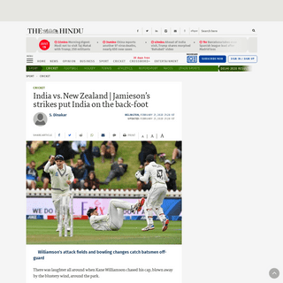 ArchiveBay.com - www.thehindu.com/sport/cricket/india-vs-new-zealand-jamiesons-strikes-put-india-on-the-back-foot/article30882935.ece - India vs. New Zealand - Jamieson's strikes put India on the back-foot - The Hindu