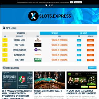 Slots.Express - Spielautomaten Online Spielen - Echtgeld Slots & Casinos