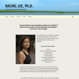 Rachel Lee Ph.D.- Psychologist in Union Square and Greenpoint, Brooklyn