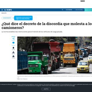 ArchiveBay.com - www.eltiempo.com/bogota/que-dice-el-decreto-por-el-que-pelean-los-camioneros-en-bogota-463466 - Qué dice el decreto por el que pelean los camioneros en Bogotá - Bogotá - ELTIEMPO.COM