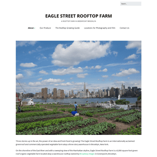 Eagle Street Rooftop Farm – A Rooftop Farm in Greenpoint Brooklyn