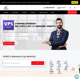 Gostovanje spletnih strani - Domene - VPS strežniki - Brezplačni SSL certifikati - Spletne strani
