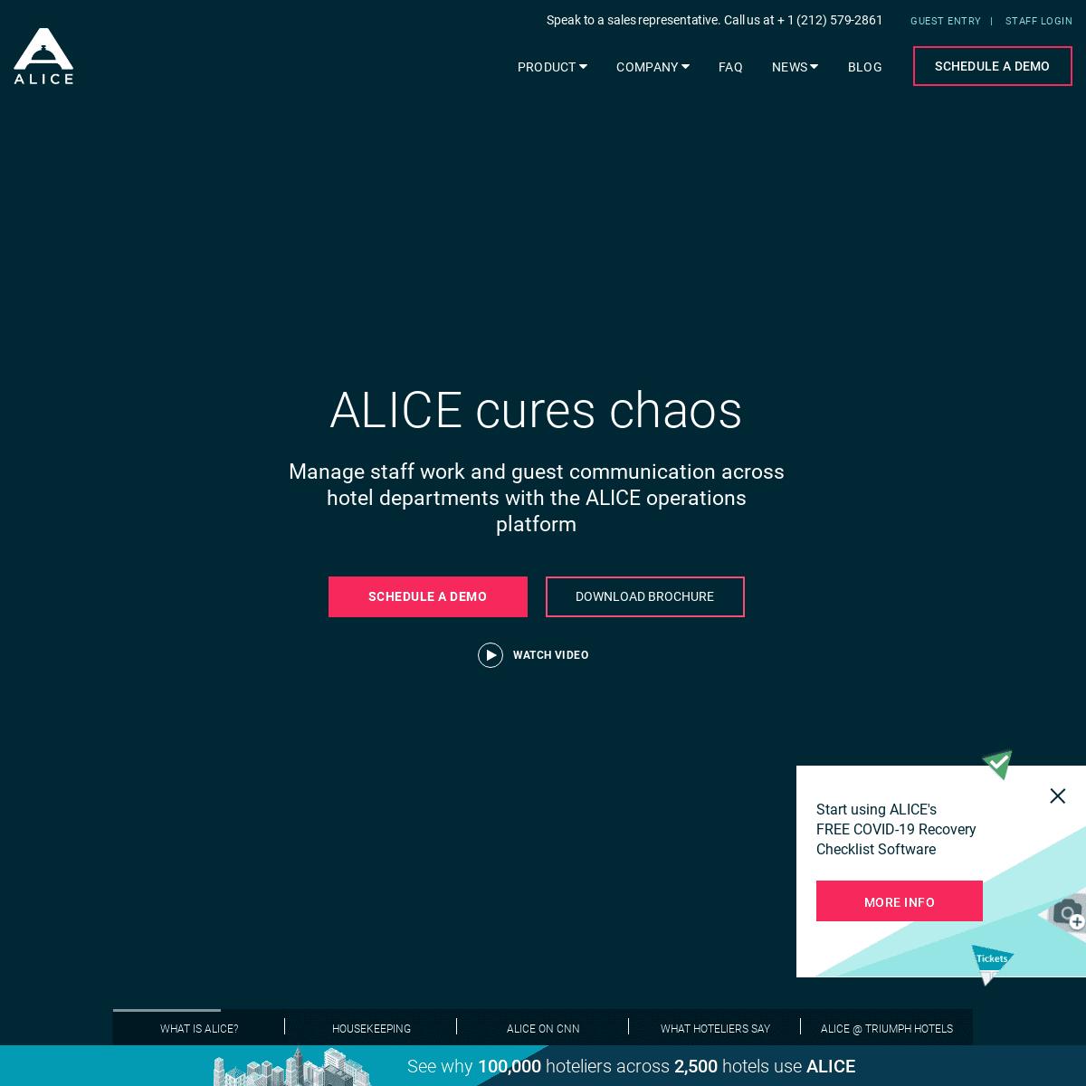 ArchiveBay.com - aliceplatform.com - ALICE - Hotel Operations Platform for Housekeeping, Maintenance, Concierge, Front Desk