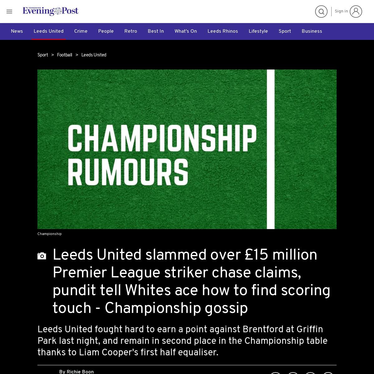ArchiveBay.com - www.yorkshireeveningpost.co.uk/sport/football/leeds-united/leeds-united-slammed-over-ps15-million-premier-league-striker-chase-claims-pundit-tell-whites-ace-how-find-scoring-touch-championship-gossip-1479949 - Leeds United slammed over £15 million Premier League striker chase claims, pundit tell Whites ace how to find scoring touch - C